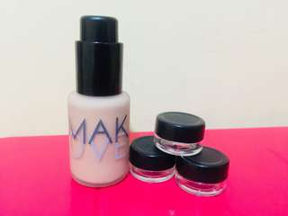 MakeOver Foundation 03 Nude Silk Share in Jar 5ml