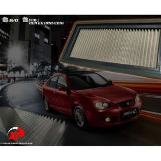 AIR FILTER DROP IN STAINLESS STEEL WASHABLE BLITZ TOYOTA VIOS 2ND GENERATION 2007 - 2013 ALZA MYVI KANCIL GEN2 WIRA WAJA SAGA SATRIA