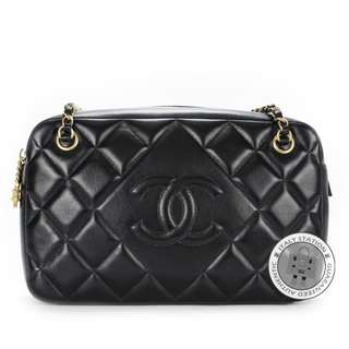 (NEW) Chanel A67751 CC CAMERA LAMBSKIN SHOULDER BAG GBHW, BLACK 全新 手袋 黑色 金扣