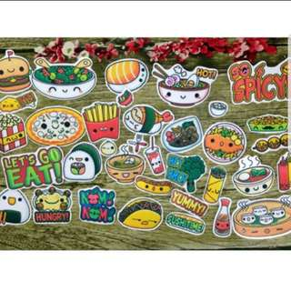 [Instock] Stickers Scrapebook/ Planner Stickers #86 (FOOD, SUSHI, PIZZA, FASTFOOD)