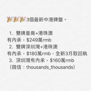 (代辦中港車牌)新辦港珠澳$39萬rmb,現牌$58萬rmb