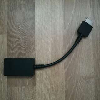 Adapter 2 in 1 for Ethernet and Video ports