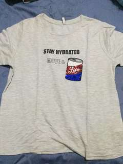 Stradivarius coke shirt