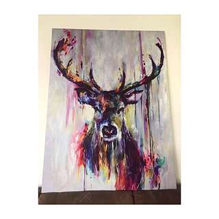 Abstract Painting Deer Canvas /Make your house more Beautiful