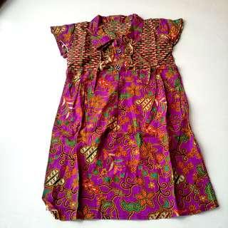 Batik dress usia 4-5
