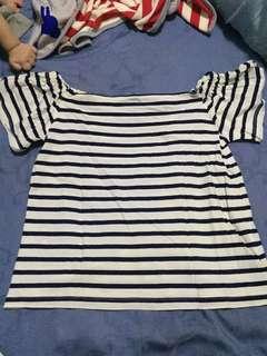 Cotton ink stripes shirt