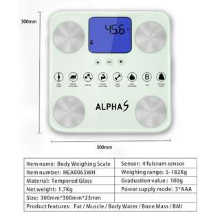 AlphaS intelligent BMI body compositionweight scale