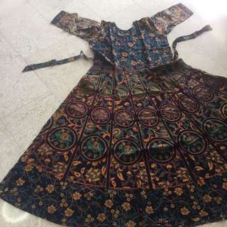 Rajasthan block print anarkali flared gown