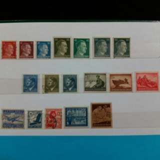 1933 - 1945 Germany stamps Hitler