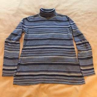 藍橫條孕婦上衣
