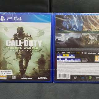 [BN] PS4 Call of Duty Modern Warfare Remastered (Brand New)