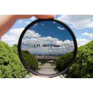 CPL filter 67mm