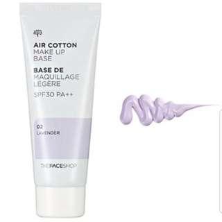 Air Cotton Makeup Base - 02 Lavender