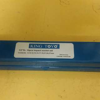 King toyo impact socket set