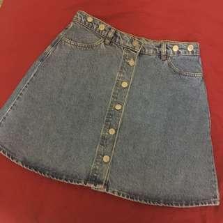Monki A-Line Denim Skirt