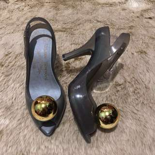 5US Melissa High Heels Gold Ball