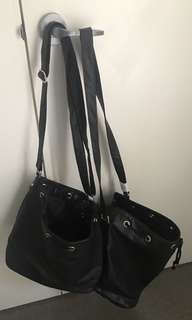 BLACK SHOULDER BAGS