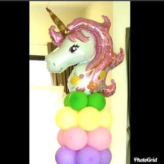 Unicorn balloon columns