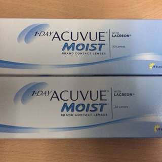 1-day acuvue moist con全新未開封