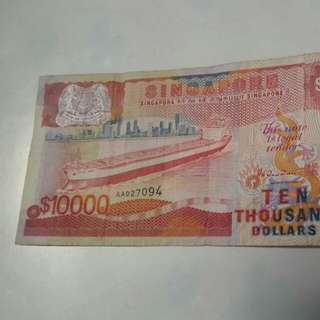 Singapore $10000 🚢  old notes