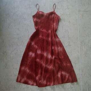 Batik summer maxi dress