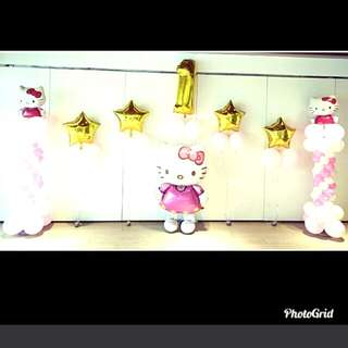 Hello kitty birthday balloon decorations