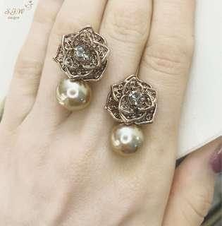 Chic earrings! Sterling silver ear needle✨s925