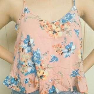 Peach floral top