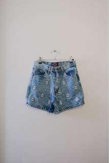 Lucky Cat High Waist Shorts