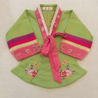 Korean Girl Traditional Hanbok Costume