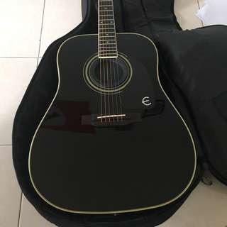 Epiphone Pro-1 PLUS Acoustic Guitar, Ebony