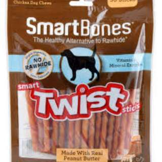 Smartbones Twist Sticks Peanut Butter 50 Sticks