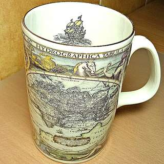World Vintage Map Design Mug ( The Admiralty Collection ) Fine Bone China, Made In England.