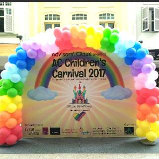 Balloon arch rainbow arch company events decorations