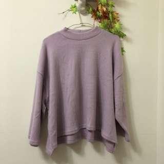粉紫色毛衣