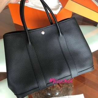Hermes Garden Party 36 Noir Black color