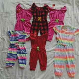 Jumpsuit baby girl . 6 pcs left.