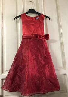 Red purple candy dress for kids