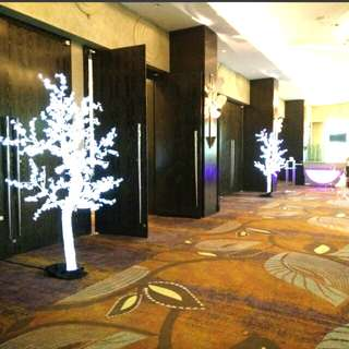 Wedding and company dinner led trees decorations