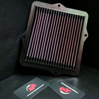AIR FILTER DROP IN STAINLESS STEEL WASHABLE KNN HONDA EG ALZA MYVI KANCIL GEN2 WIRA WAJA SAGA SATRIA
