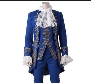 The Beast Prince Adam Cosplay Costume Outfit Disney