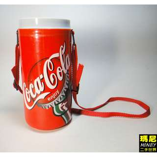 老物專家請參考-可口可樂造形塑膠材質水壺-二手品相佳