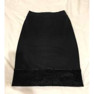 Original SUB wrinkle free Black Skirt - knee length