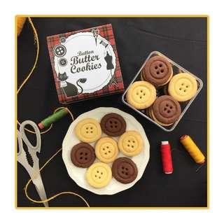Button butter cookies