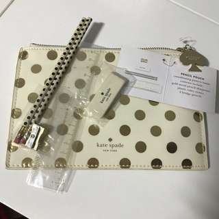 Kate Spade Gold Dots Pencil Pouch (BNWT)