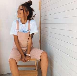➰ popcherry - pink overalls