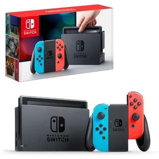 SALE BNIB LOCAL SET Nintendo Switch Console with Neon Blue/Red Joy-Con