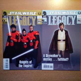 Star Wars Legacy comics (vol 7 & 8)