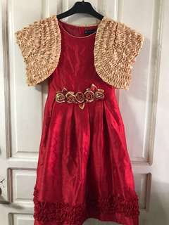 Red gown with bolero