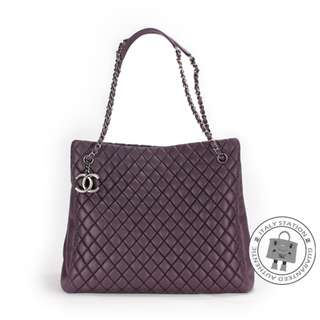 (NEW) Chanel A67388 Y07112 CC SHOPPING BAG IN IRIDESCENT CALFSKIN SHOULDER BAG SBHW, PURPLE / 91623 全新 手袋 紫色
